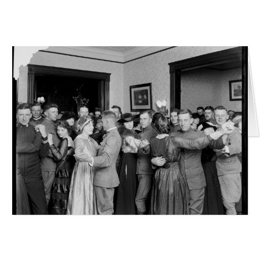 El baile como él es 1910 tarjetas