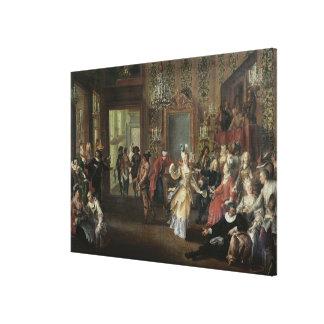 El baile de disfraces lienzo envuelto para galerias