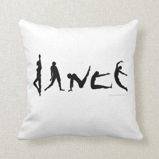 El baile de la danza siluetea la almohada de tiro