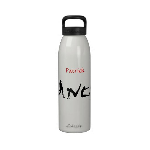 El baile de la danza siluetea reutilizable conocid botella de agua reutilizable