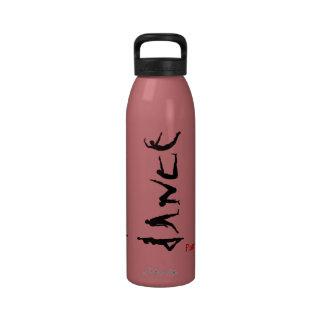 El baile de la danza siluetea reutilizable conocid botellas de beber