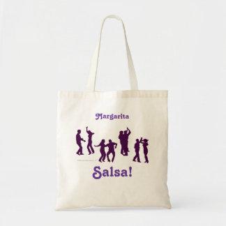 El baile de la salsa presenta las siluetas de enca bolsa de mano