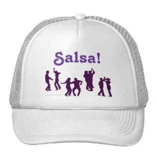 El baile de la salsa presenta las siluetas de enca gorras de camionero