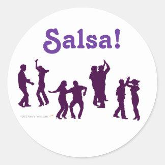 El baile de la salsa presenta las siluetas de enca pegatina