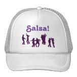 El baile de la salsa presenta las siluetas de gorras de camionero