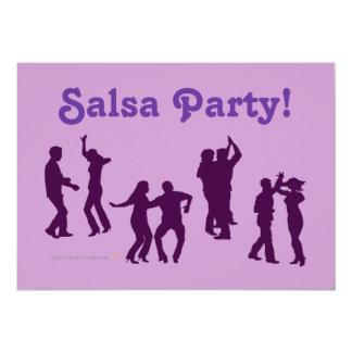 """El baile de la salsa presenta las siluetas de invitación 5"""" x 7"""""""