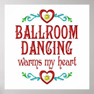 El baile de salón de baile calienta mi corazón poster
