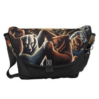 El baile del bolso del viajero del arte del oso ll bolsa de mensajería