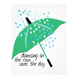 El baile en la lluvia ahorra membrete a diseño