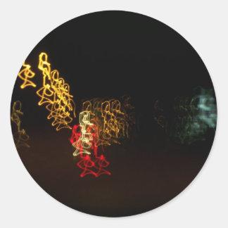 El baile enciende a los pegatinas pegatinas redondas