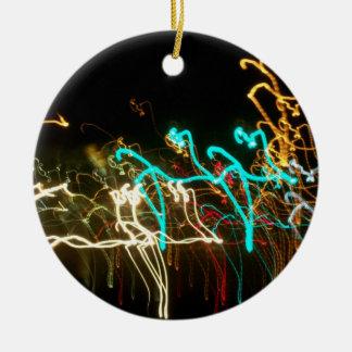 El baile enciende el ornamento ornamento de navidad