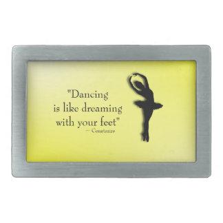 El baile es como el sueño de ballet hebilla cinturon rectangular