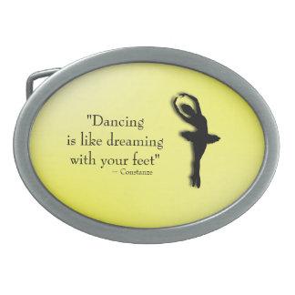 El baile es como el sueño de ballet hebillas cinturon ovales