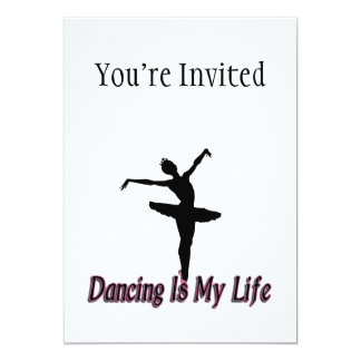 """El baile es mi vida invitación 5"""" x 7"""""""