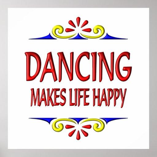 El baile hace vida feliz poster