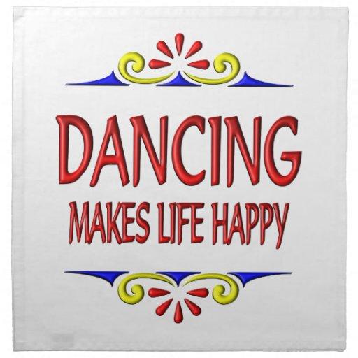 El baile hace vida feliz servilletas imprimidas