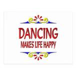 El baile hace vida feliz tarjetas postales