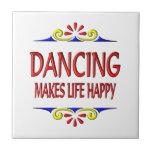 El baile hace vida feliz tejas  cerámicas