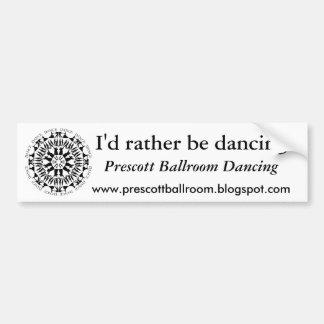 El baile junta la mandala 1 pegatina de parachoque