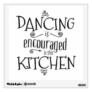 El baile se anima en esta cocina - emparede la vinilo adhesivo