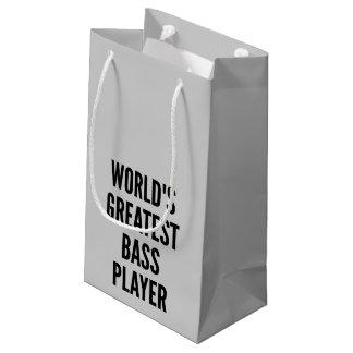 El bajista más grande de los mundos bolsa de regalo pequeña