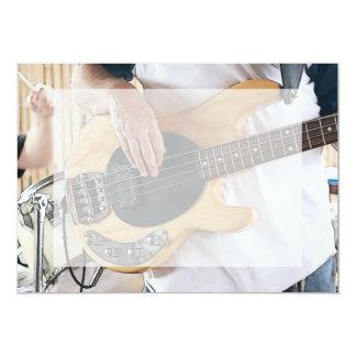 """el bajista posterized cuatro manos .jp del bajo de invitación 5"""" x 7"""""""