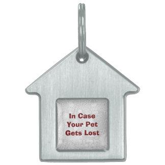 El bajo costo crea su propia etiqueta de la recupe placa de nombre de mascota