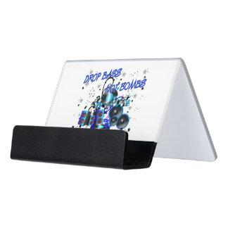 El bajo del descenso no bombardea el auge contra caja de tarjetas de visita para escritorio