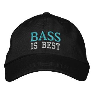El bajo es el mejor casquillo de la música gorras de béisbol bordadas