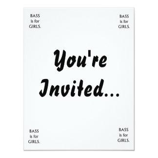 """El bajo está para el texto negro de los chicas invitación 4.25"""" x 5.5"""""""