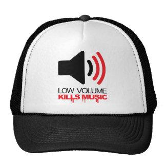 El bajo volumen mata a música gorras