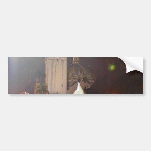 El balboa parquea noche de las fuentes de las torr pegatina de parachoque