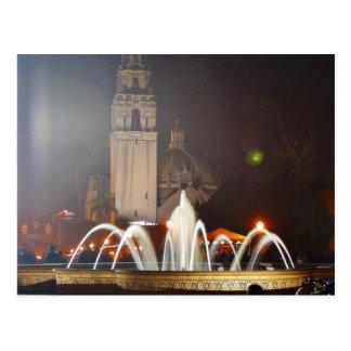 El balboa parquea noche de las fuentes de las torr tarjeta postal
