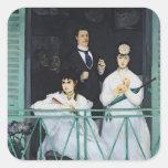 El balcón, 1868-9 pegatina cuadrada