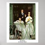 El balcón de Eduardo Manet Poster