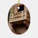 El balcón de Juliet Adorno Ovalado De Cerámica