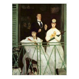 El balcón - Eduardo Manet Tarjetas Postales