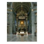 El Baldacchino, el alto altar y la silla Tarjeta Postal