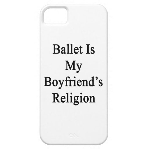 El ballet es la religión de mi novio iPhone 5 Case-Mate cobertura
