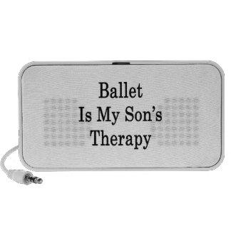 El ballet es la terapia de mi hijo laptop altavoz