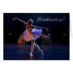 El ballet es tarjetas de la vida