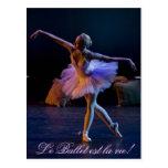 El ballet es tarjetas de la vida postal