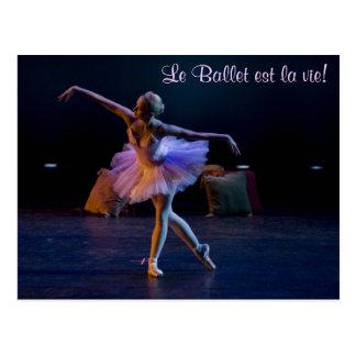 El ballet es tarjetas de la vida tarjeta postal