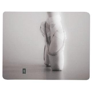 El ballet Pointe calza los deslizadores del baile Cuadernos Grapados