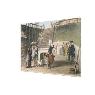 El balneario, placa de 'bosquejos poéticos de Scar Impresión En Lona Estirada