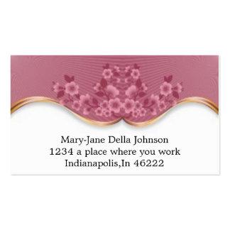 El balneario rosado hermoso florece la tarjeta de  tarjeta de negocio