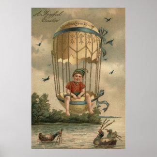 El balón de aire Pascua coloreó el pato pintado Póster