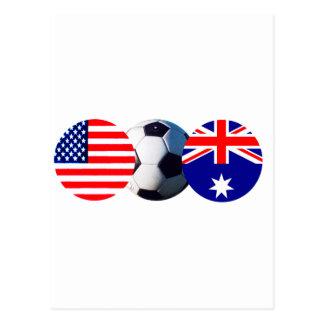 El balón de fútbol Australia y los E.E.U.U. señala Postal
