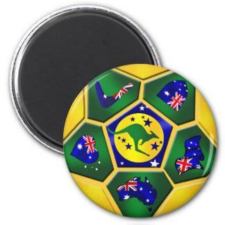 El balón de fútbol de Australia artesona el engran Imán Redondo 5 Cm