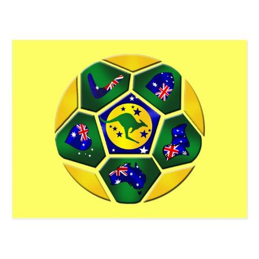El balón de fútbol de Australia artesona el engran Tarjetas Postales